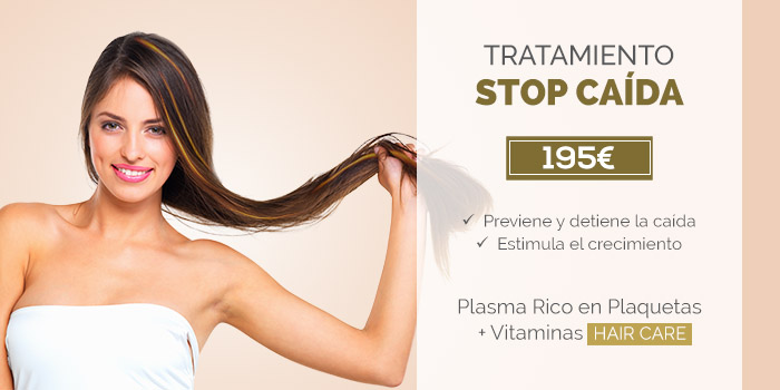 stop a la caída del cabello con PRP y vitaminas