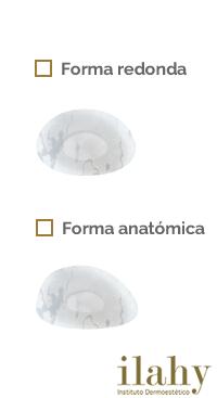 formas de protesis mamarias