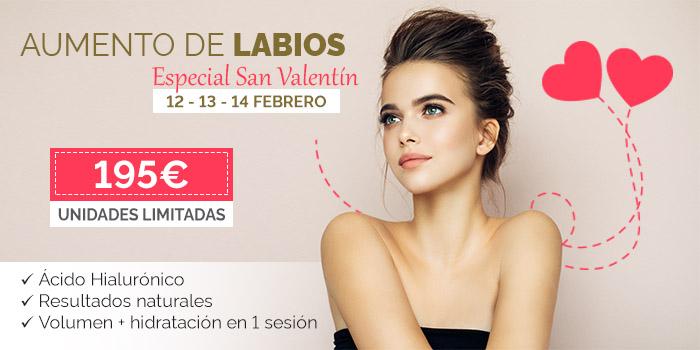 promoción San Valentín en ilahy: Aumento de labios rebajado