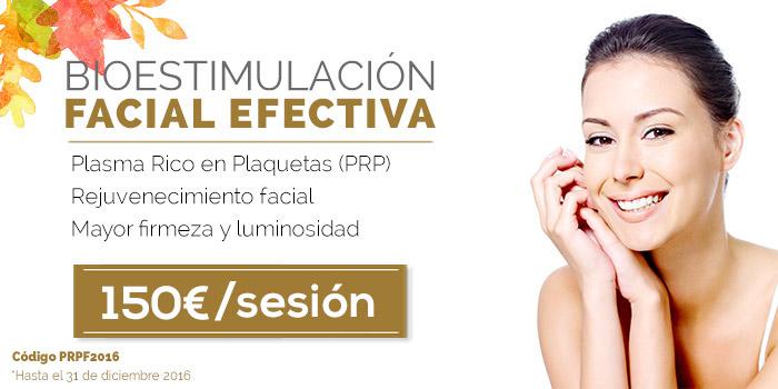 precio de rejuvenecimiento facial con PRP