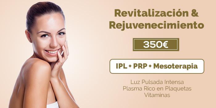 rejuvenecimiento facial IPL PRP Mesoterapia