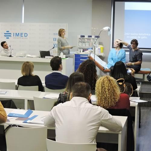 Nueva jornada de formación de medicina estética en IMED Elche