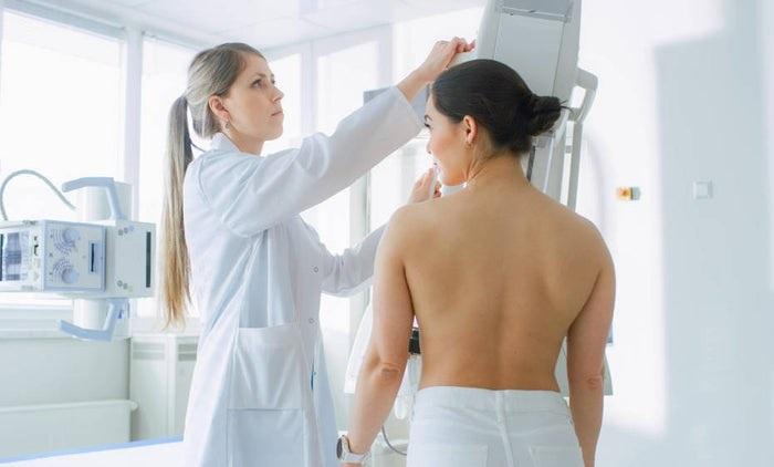 mamográfia aumento de pecho