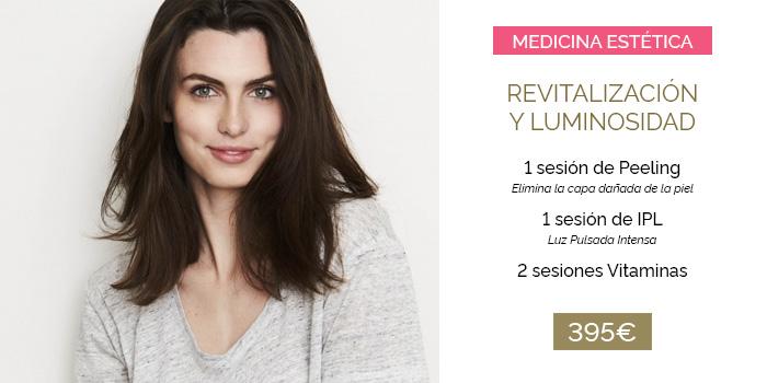 revitalización facial con sesiones de peeling y luz pulsada intensa