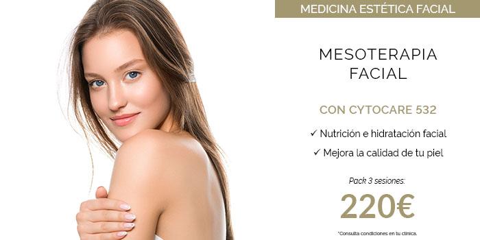mesoterapia facial con cytocare precio