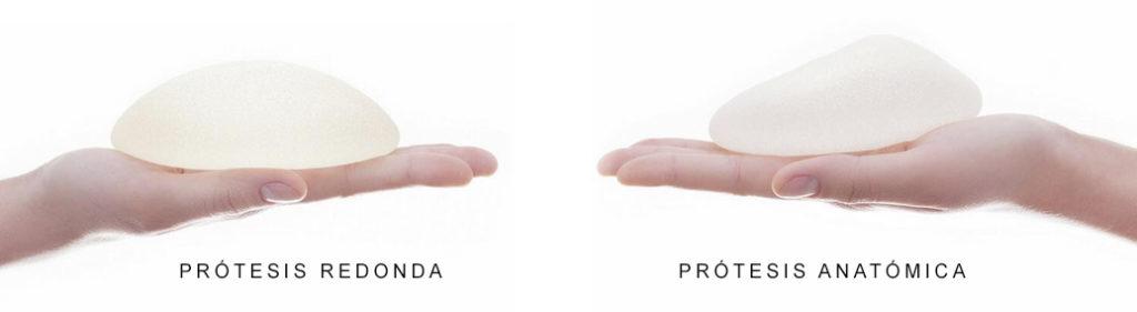 implantes pecho forma